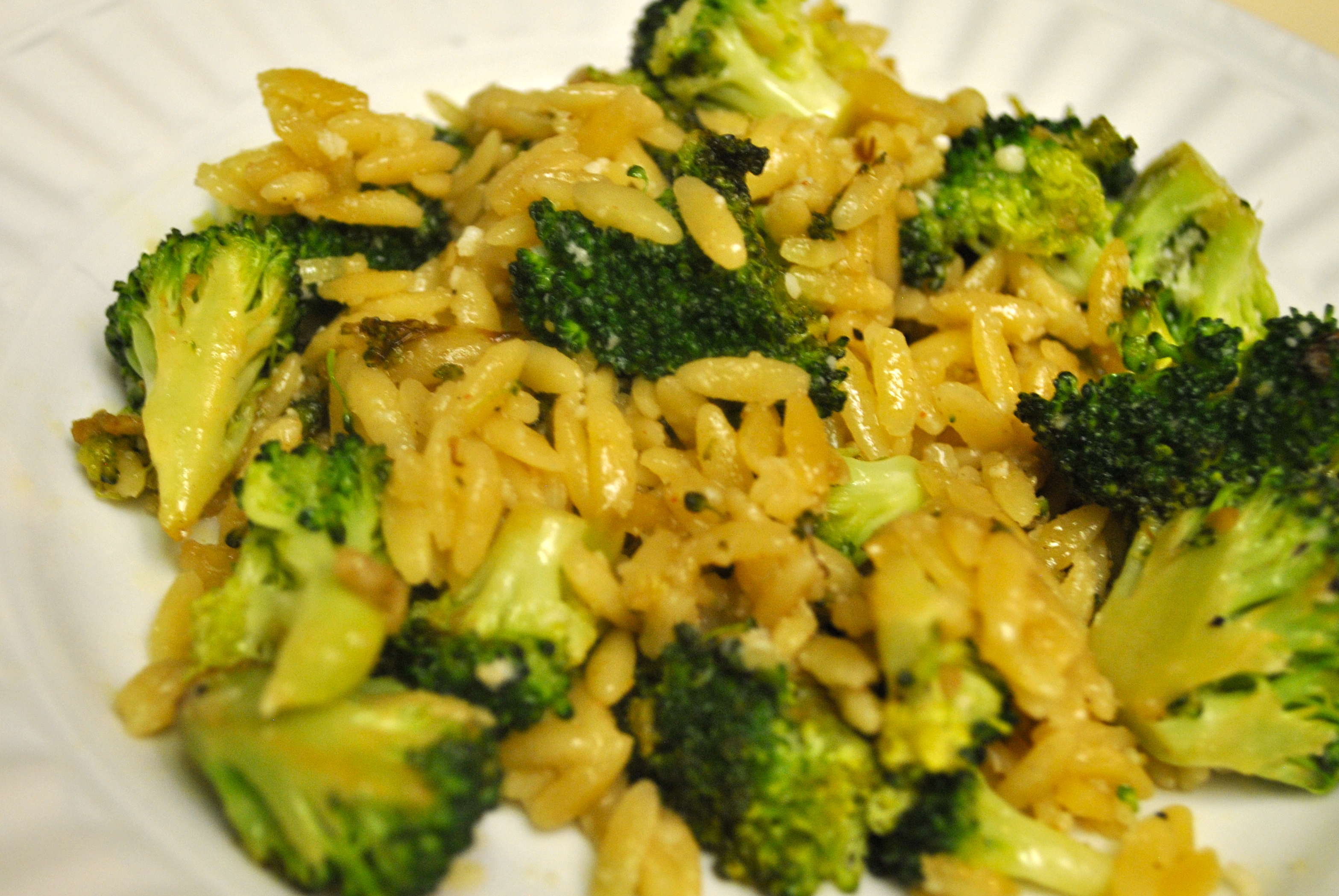 deliciously cheesey tasting broccoli and orzo dish. I created this ...
